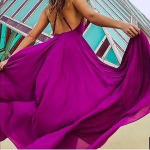 Lulu's mythical kind of love magenta dress size M